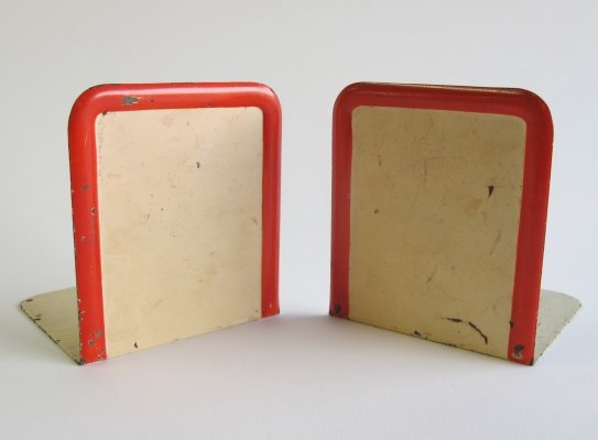 Pair of metal bookends by Marianne Brandt for Ruppelwerk, 1930s