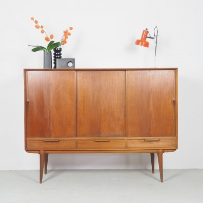 Teak highboard by Gunni Omann for Omann Jun, 1960's