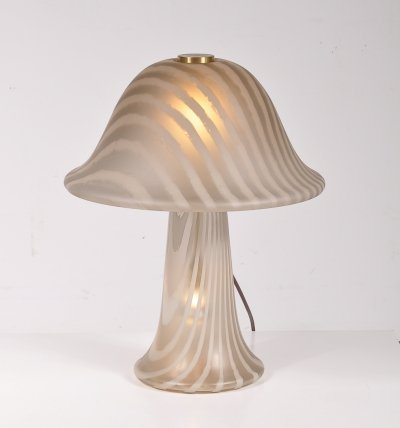 Glass table lamp by Putzler in Germany, 1970s
