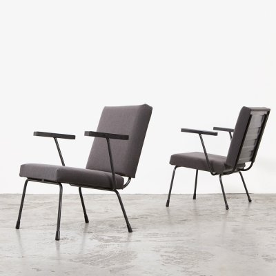 Pair of 1401 Easy Chairs by Wim Rietveld for Gispen, 1954