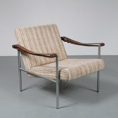 Rare Dutch lounge chair by Martin Visser & Dick van der Net for 't Spectrum, 1960s
