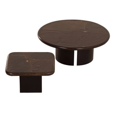 Set of Brown Coffee Tables by Paul Kingma, 1989/90