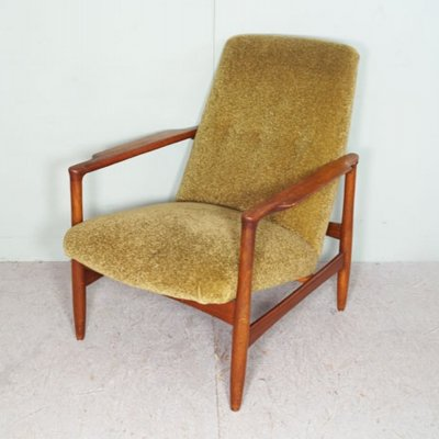 Moss green lady's arm chair, 1950s