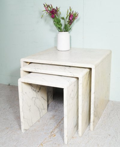 Marble nesting tables, Italy 1960's