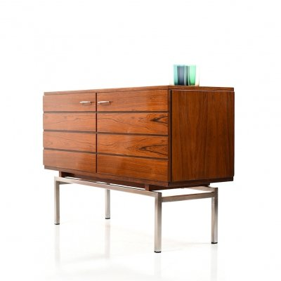 Small Mid Century Sideboard with chrome, 1950s