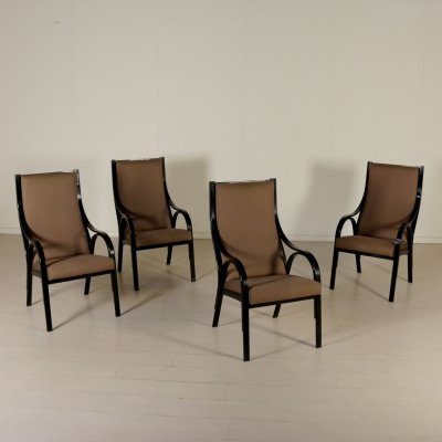 Set of 4 Cavour Armchairs by Giotto Stoppino, Lodovico Meneghetti & Vittorio Gregotti for Sim