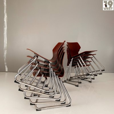 10 children's stacking chairs by Flötotto, Germany 1970s