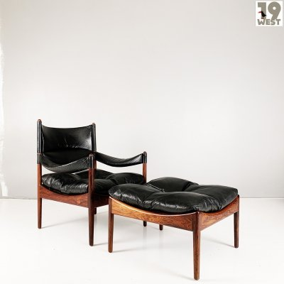 Danish Modus chair & footstool by Kristian Vedel, 1960's
