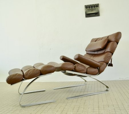 Vintage design 'Sinus' lounge chair + ottoman by Adolf & Schröpfer for COR Sitzcomfort, 1976