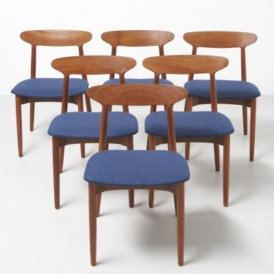 Set of 6 'Model 59' dining chairs by Harry Østergaard
