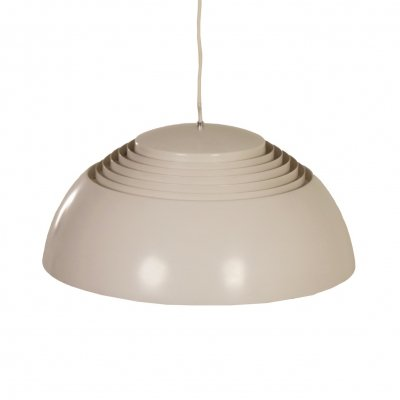 Grey white AJ Pendant by Arne Jacobsen for Louis Poulsen, 1950s