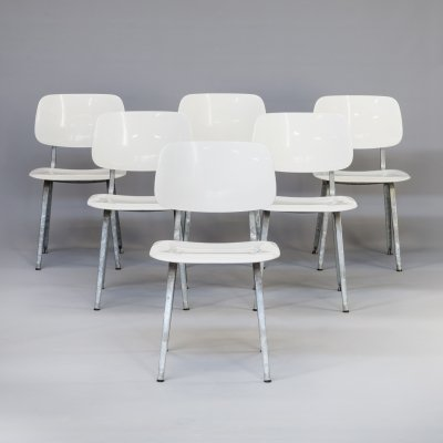 Set of 6 Friso Kramer 'revolt' chairs for Ahrend, 1990s