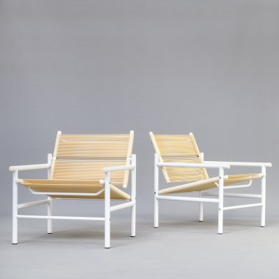 Pair of 'Fly Line' spaghetti chairs by Giandomenico Belotti for CMP-Padova, 1980s