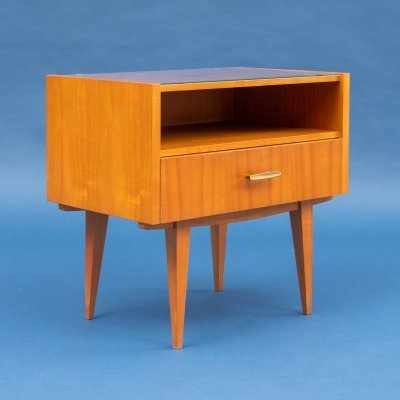 Set of two 1960s bedside tables in cherrywood