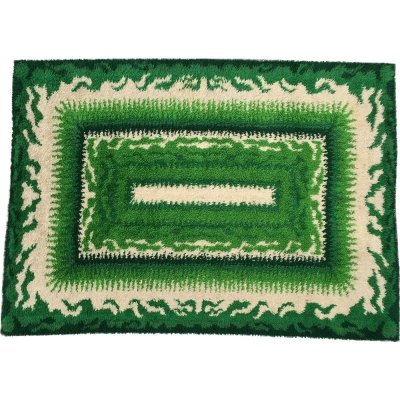 Mid-Century Danish Green Rya Rug from Viking