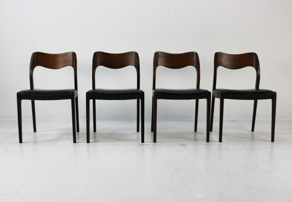 Set of 4 dining chairs by Niels Otto Møller for JL Møllers Møbelfabrik, 1960s