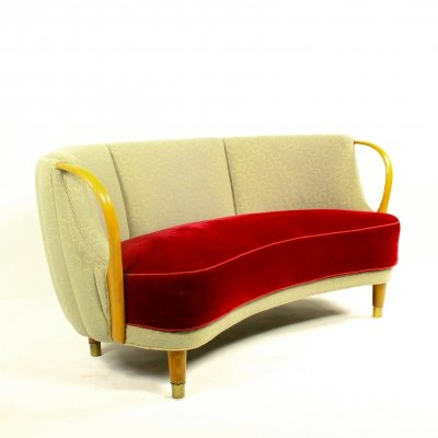 Curved 'No. 96' sofa model by N.A. Jørgensen, 1950s