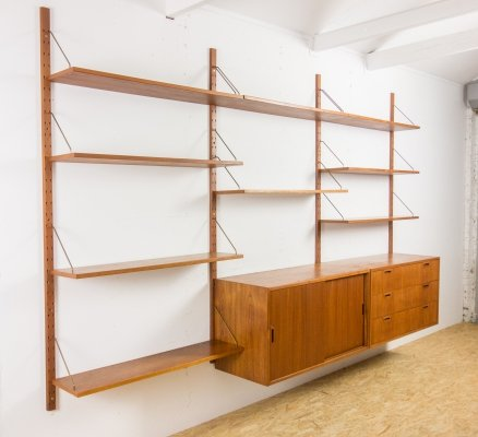 Teak wall unit by Sven Ellekaer