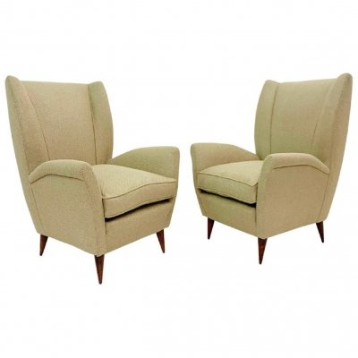 Pair Of 'Model 512' Gio Ponti Armchairs, Italy 1960s