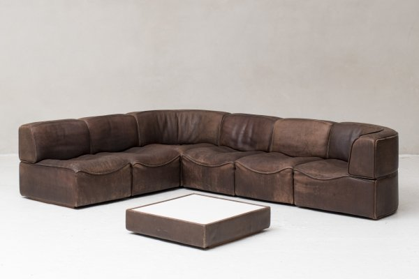 6 elements modular 'DS15' sofa by De Sede, Switzerland 1970