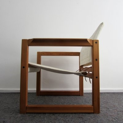Solid Pine 'Diana' Lounge Chair by Karin Mobring for Ikea, 1970's