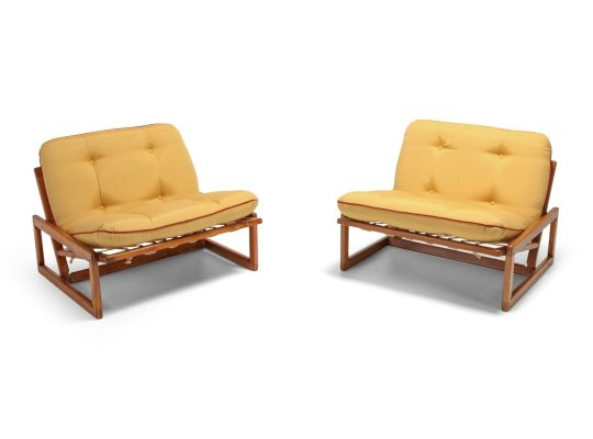 Pair of 'Carlotta' Lounge Chairs by Afra & Tobia Scarpa for Cassina, 1960s