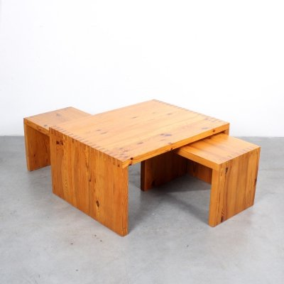 Coffee table by Ate van Apeldoorn for Houtwerk Hattem, 1970s