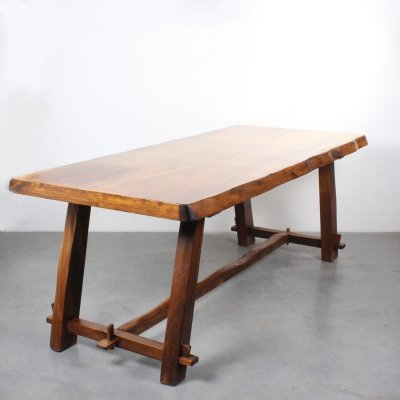 Brutalist dining table by Olavi Hänninen for Miko Nupponen, 1950s