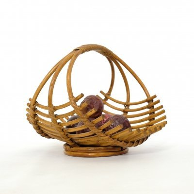 Rattan fruit basket, 1960-1970