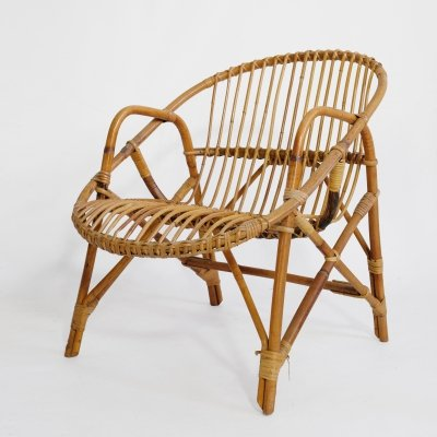 French bamboo lounge chair from the 60's-70's