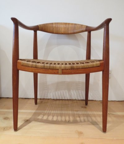 Early Original JH 501 Chair in teak by Hans J Wegner for Johannes Hansen, 1950