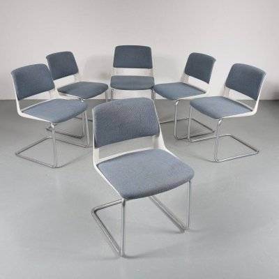 60x dining chair by Cordemeijer for Gispen, the Netherlands 1970s