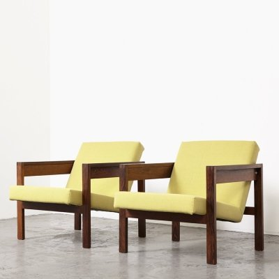 Pair of 'SZ25/SZ80' Easy Chairs by Hein Stolle for 't Spectrum, 1959