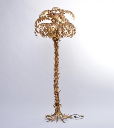 Huge Vintage Golden Palm Tree Floor Lamp by Hans Kögl, circa 1980s