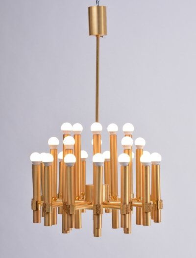 Exceptional Chandelier or Sputnik by Angelo Brotto for Esperia Italia