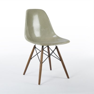 Light Seafoam Herman Miller Original Eames DSW Dining Side Shell Chair