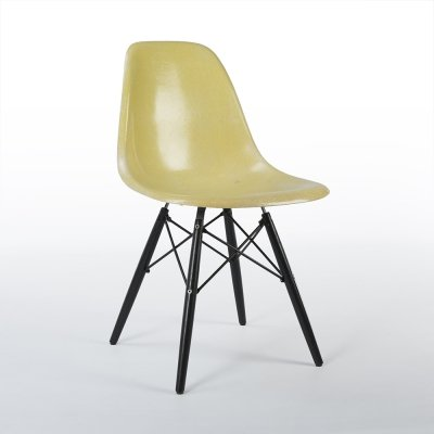 Lemon Yellow Herman Miller Original Eames DSW Dining Side Shell Chair