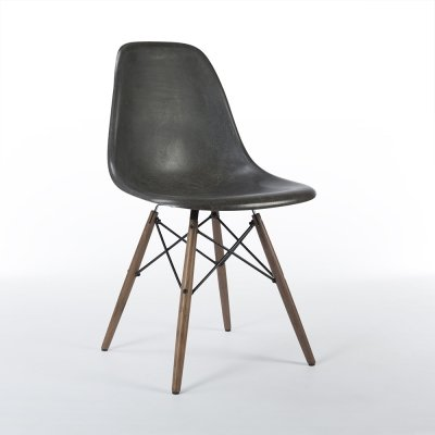 Black Herman Miller Original Eames DSW Dining Side Shell Chair