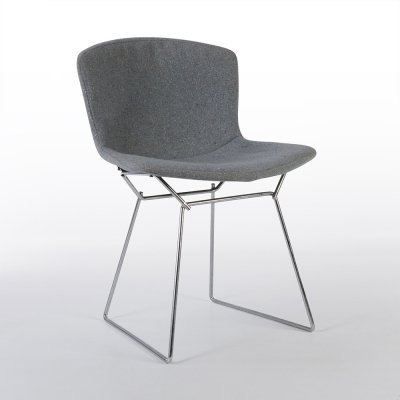 Grey Fabric Bertoia Fiberglass Chair