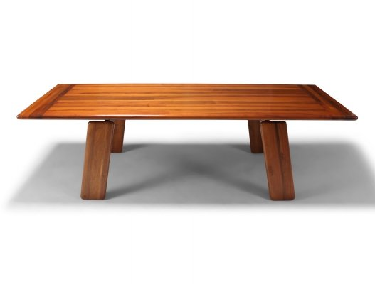 Postmodern Walnut Dining Table by Afra & Tobia Scarpa, 1980s