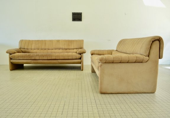 Vintage De Sede DS86 3seater + 2seater sofa set, 1980s