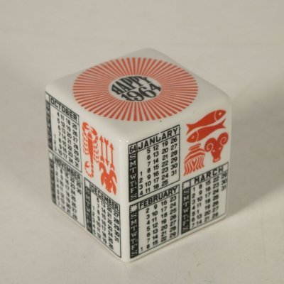 Cubic Paperweight by Piero Fornasetti