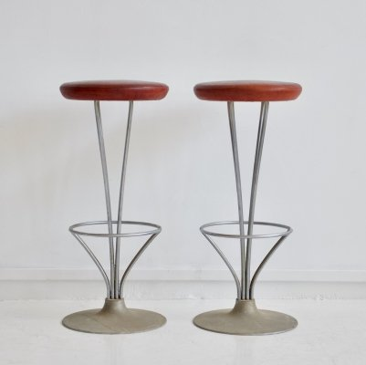 Pair of Piet Hein Bar Stools by Fritz Hansen