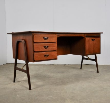 'Boomerang' Writing desk by Louis van Teeffelen for Wébé, 1960s