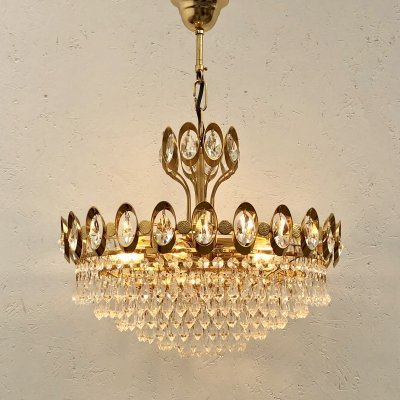 Vintage Palwa chandelier, German design 1970s