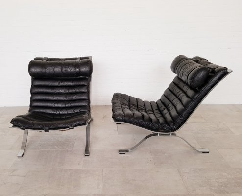 Set of 2 Arne Norell Ari easy chairs, 1960s