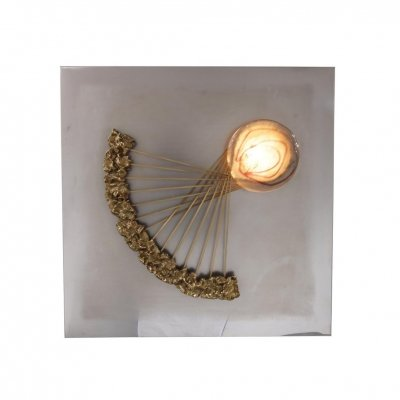 Angelo Brotto Sculptural Wall Light for Esperia, Italy 1970s