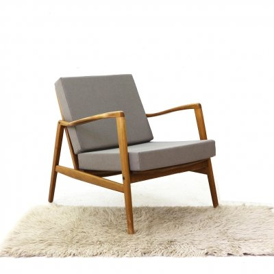 Mid-Century Easy Chair in Grey, 1960s