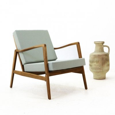 Mid-Century Easy Chair in Sage Green, 1960s