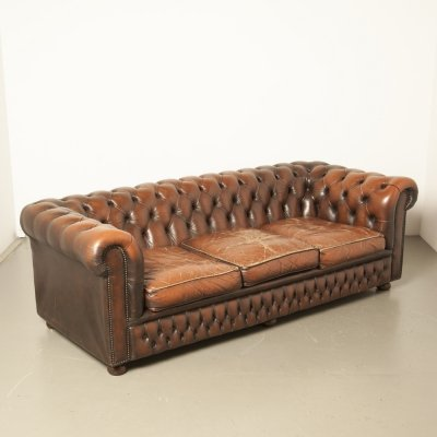 Pleasant Original English Chesterfield Sofa In Oxblood Red Leather Cjindustries Chair Design For Home Cjindustriesco